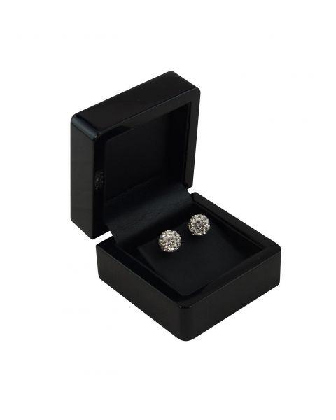 Ebony Wooden Earring Box (WB-60) from £7.50 each