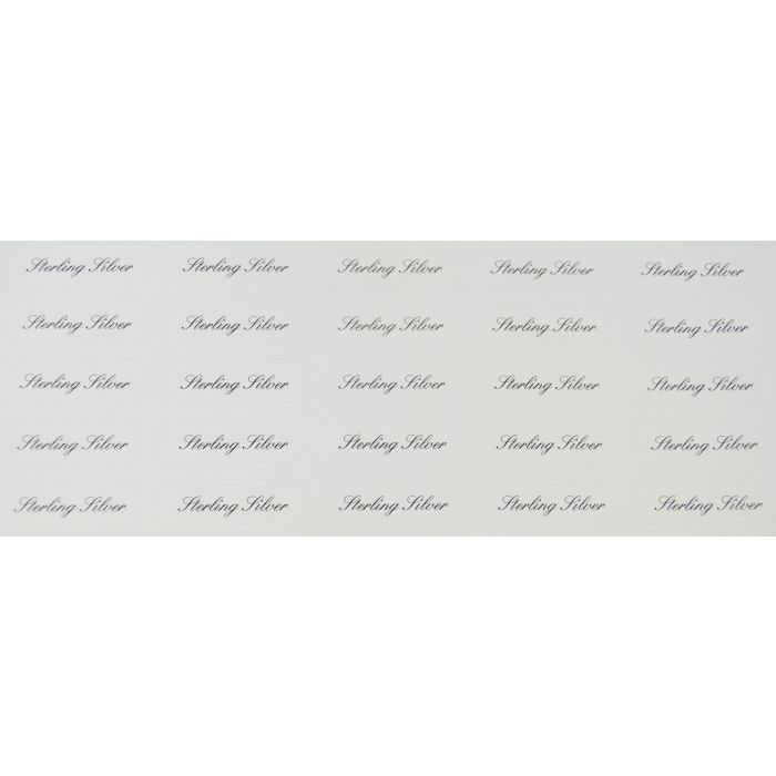 380 x Silver Plated Printed Adhesive Labels Jewellery tags FREE DELIVERY
