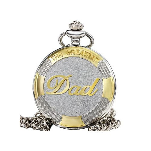 Silver & Gold Coloured Full Hunter Pocket Watch - The Greatest Dad