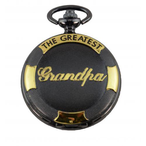 The Greatest Grandpa - Black & Gold Pocket Watch