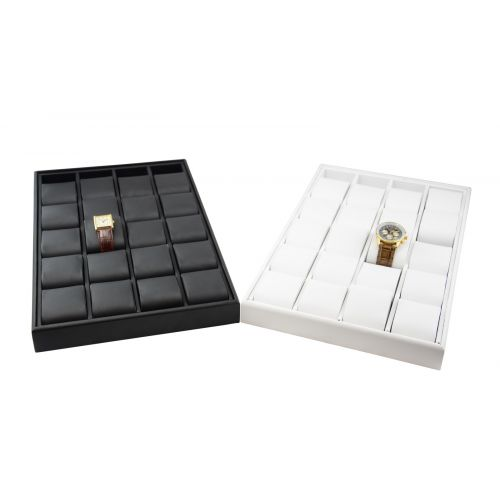 Deluxe Leatherette 20 Watch Bracelet Showcase Set - Colour Choice - BD1320L