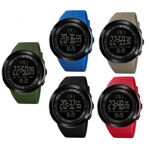 SKMEI Men's Digital Outdoor Sports Wristwatch Waterproof Watch Date Alarm Light