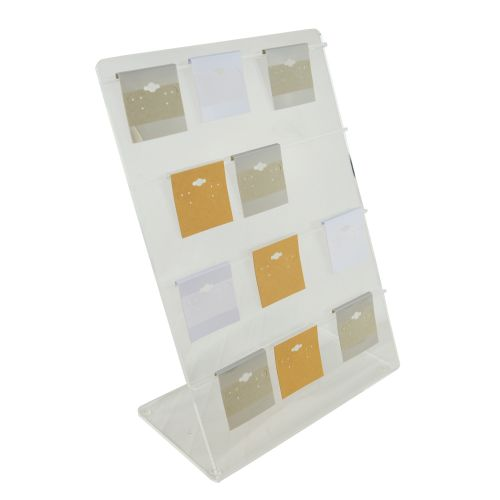 Clear Acrylic Earring Hanging Card 4 Rail Display Rack - Can Hold up to 3' Cards