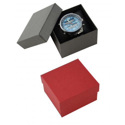 2 Piece Pinstripe Card Watch / Bangle Pillow Box