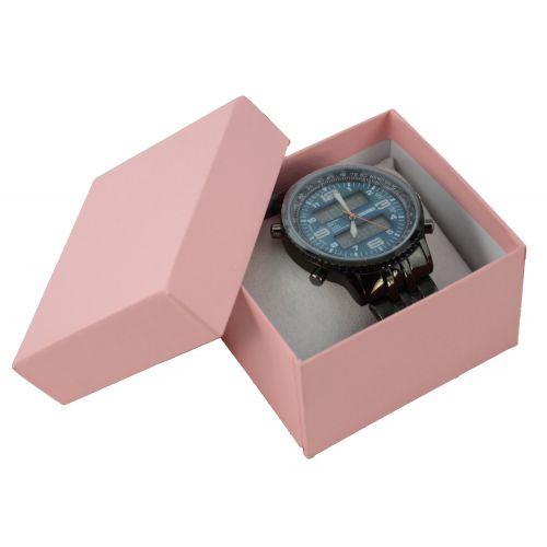 Two Piece Card Matte Pink Watch / Bangle Pillow Box