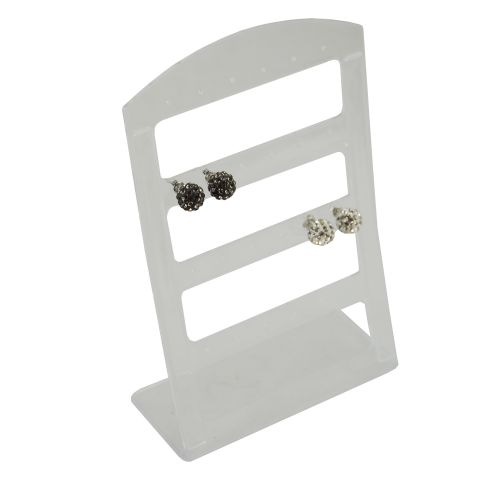 4 x Plastic Earring Display Stands for 12 Pairs