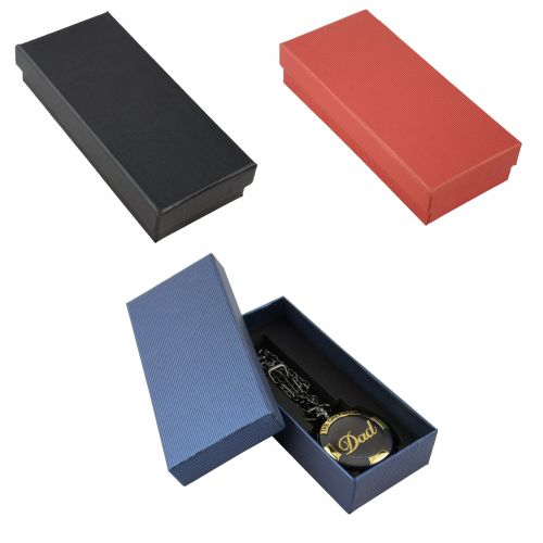 Two Piece Pinstripe Pocket Watch / Wrist Watch Boxes