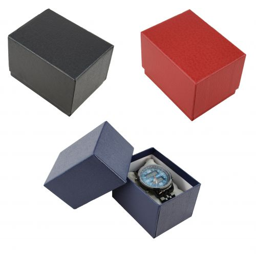 Two Piece Textured Card Watch / Bangle Pillow Box