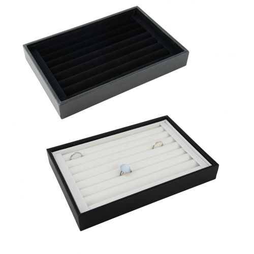 7 Ring Rolls Wooden Display Tray