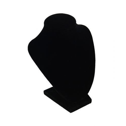Black Velvet Display Bust 7 Inch Tall