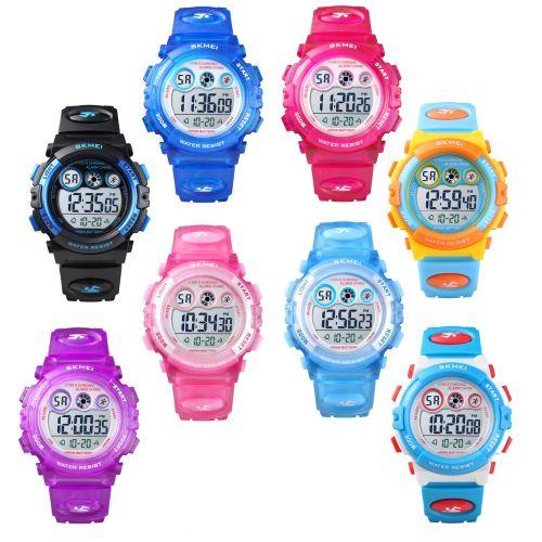 SKMEI Kids Sports Watch 50m Waterproof Children Alarm Digital Wristwatch Light
