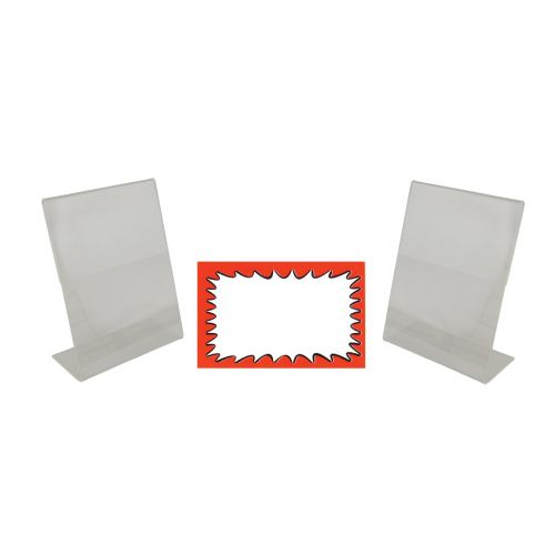 2 Acrylic Sign Holders And Choice Of Card Packs (BD-1221X2)