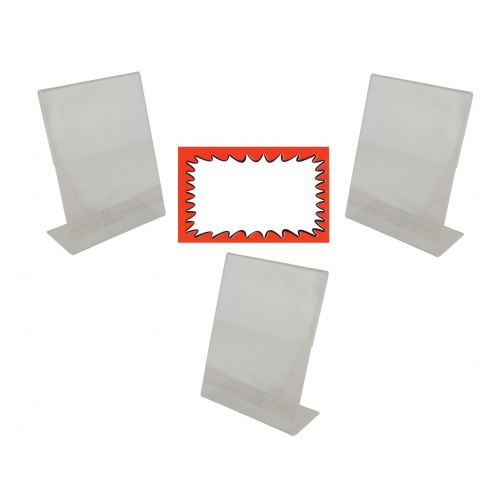 3 Acrylic Sign Holders And Choice Of Card Packs (BD-1221X3)