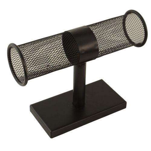 Black Mesh Bangle / Bracelet / Watch T-Bar Display Stand (BD251-132)
