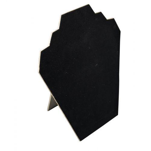 **SPECIAL OFFER** 6 x Black Velvet Flocked 2 Notch Display Bust 9 inch