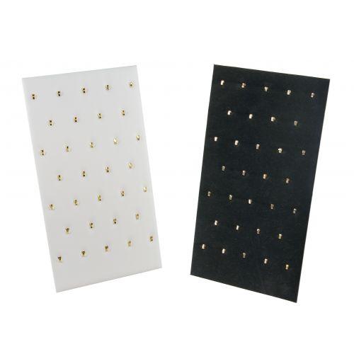 32 Hook Black Velvet or White Leatherette Pendant Stand (BD68B)
