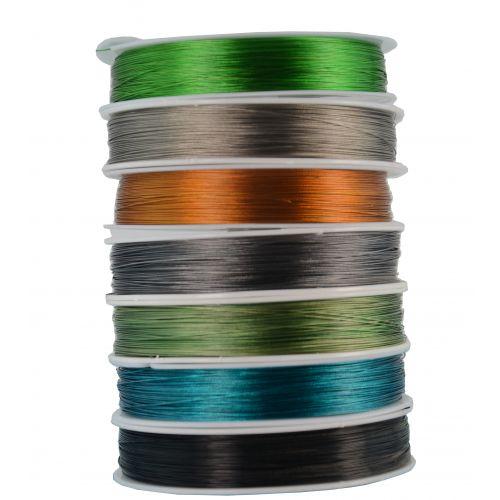 Tiger Tail Wire 100m Spool Nylon Encased  Beading Thread  - Colour Choice