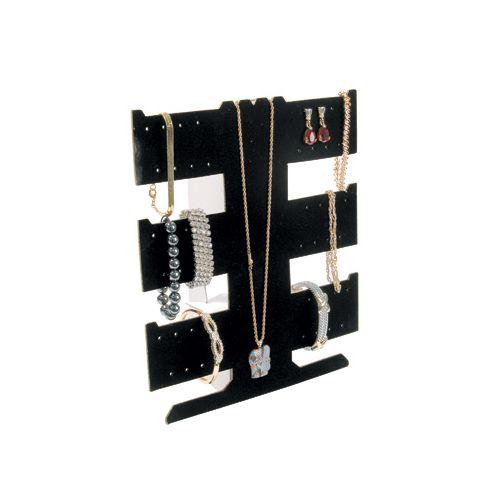 Black Velvet Flocked Earring Necklace Bracelet Display from £1.95 (BD255)