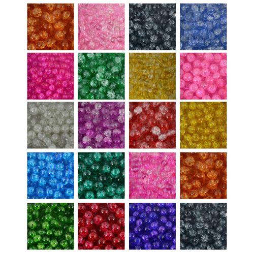Round Glass Crackle Beads Bulk Sale Jewellery Making Craft Jewelry Beading