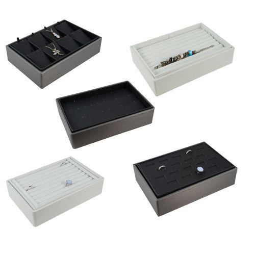 Ring / Earring / Pendant / Bracelet Stackable Jewellery Display Trays