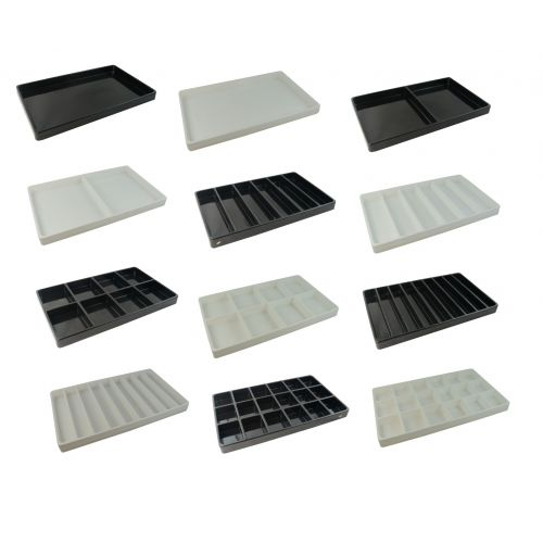 Heavy-Duty Plastic Stackable Trays (Light Weight) - Compartment and Colour Choice