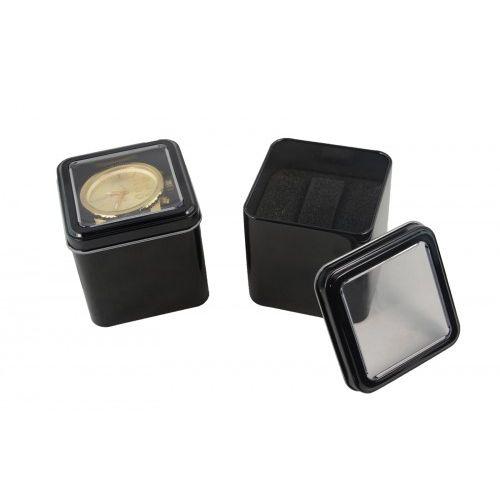 10 x Black Square Aluminium Watch/Bracelet Display Boxes *Special Offer Half Price*