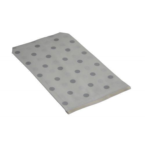 100 Silver Polka Dot Paper Gift Bags