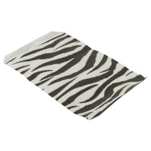 100 Zebra Print Paper Gift Bags